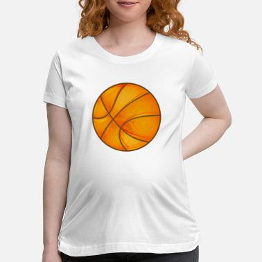 Element Basketball in bright shiny glowing orange. - Maternity T-Shirt
