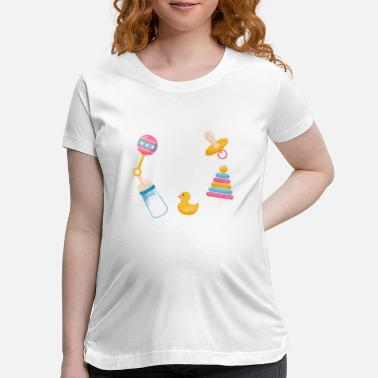 Diaper I ll Be Your Baby DDLG ABDL Bottle Love - Maternity T-Shirt