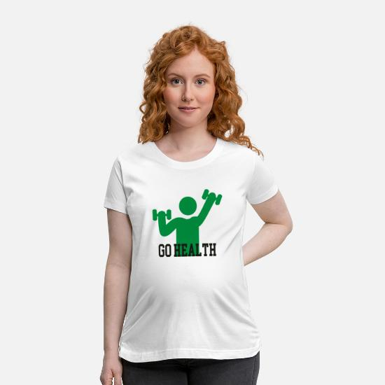 Healthy T-Shirts - go health - Maternity T-Shirt white
