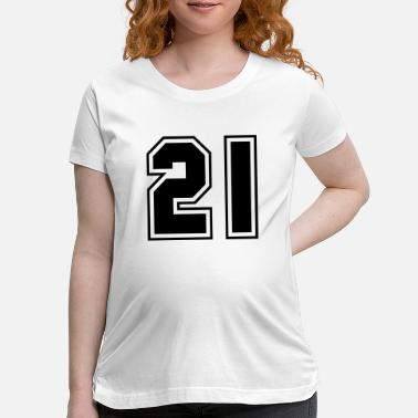 Number College jersey letter 21 - Maternity T-Shirt
