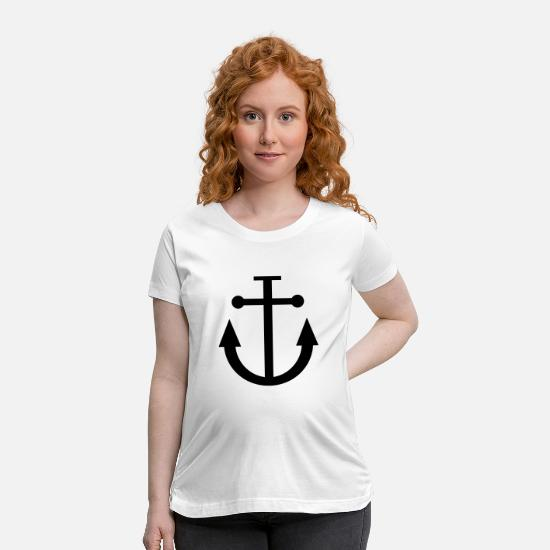 Anchor T-Shirts - anchor - Maternity T-Shirt white