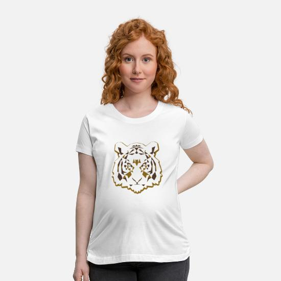 Love T-Shirts - Tiger one of the Strangest animal in jungle - Maternity T-Shirt white