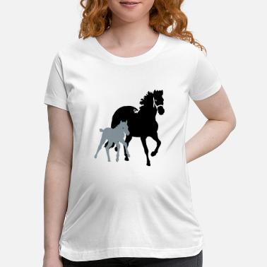 Mare mare with foal - Maternity T-Shirt