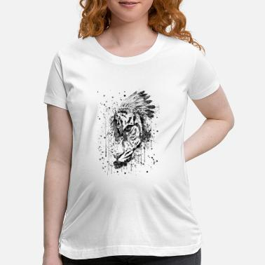 Tiger Tiger, Tiger head - Maternity T-Shirt