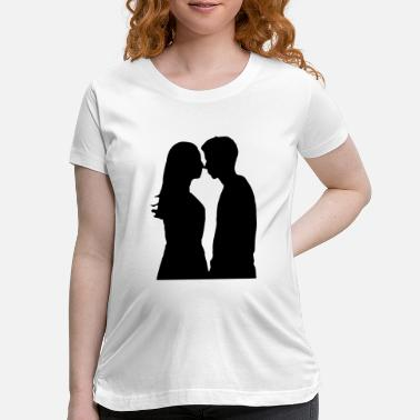 Girlfriend Love Boyfriend Relationships Girlfriend And Boyfriend Silhouette - Maternity T-Shirt