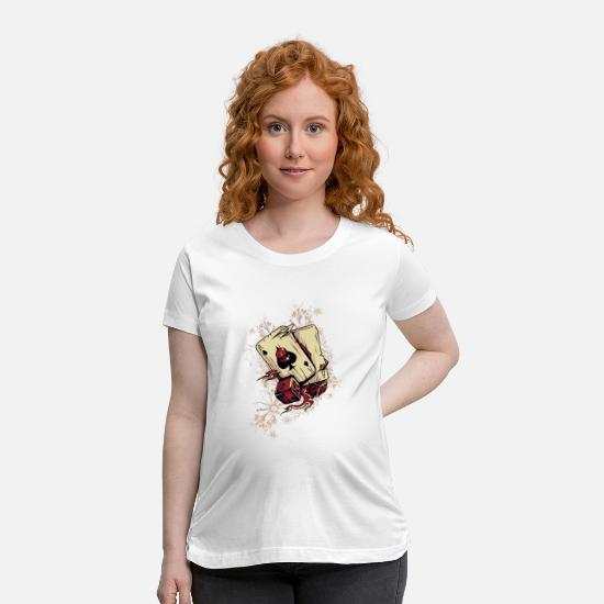 Blackjack T-Shirts - Ace of Spaces of Death and Dice - Maternity T-Shirt white