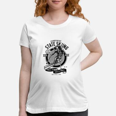 State State Skiing - Maternity T-Shirt