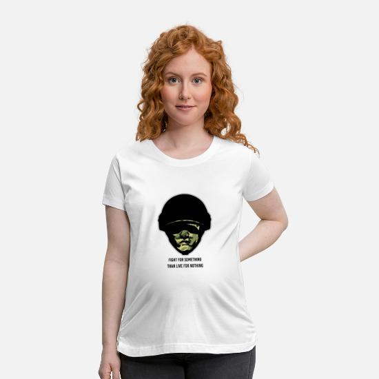 Army T-Shirts - Army Gift Idea Military Salute Soldier Infantry Ar - Maternity T-Shirt white