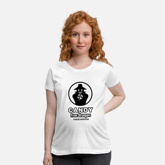 Candy T-Shirts - Candy From Strangers - Maternity T-Shirt white
