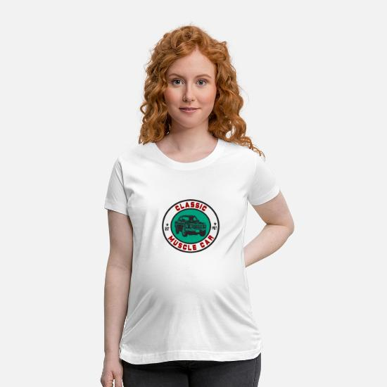 V8 T-Shirts - Classic Muscle Car - Maternity T-Shirt white