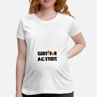 Apocalypse Survivor action with flame - Maternity T-Shirt