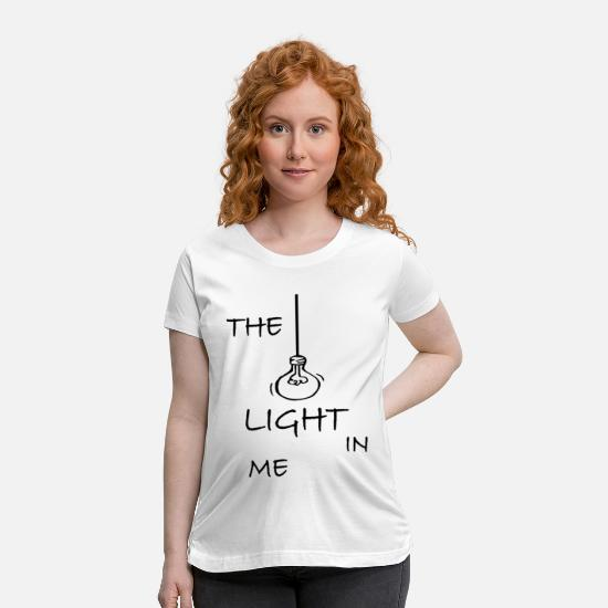 Gift Idea T-Shirts - The light in me - Maternity T-Shirt white