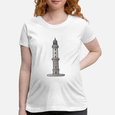Promenade Lighthouse Warnemünde Rostock - Maternity T-Shirt