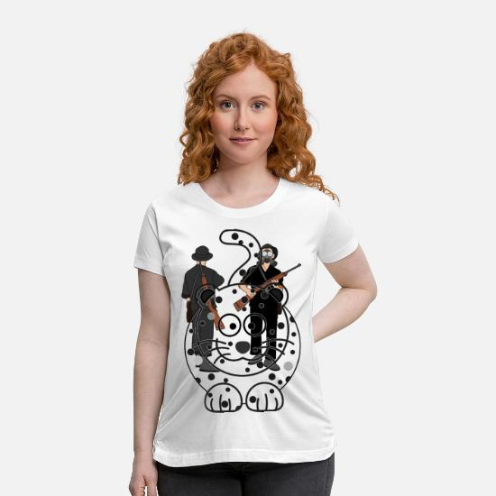 Shock T-Shirts - WHITE cheetah - Maternity T-Shirt white