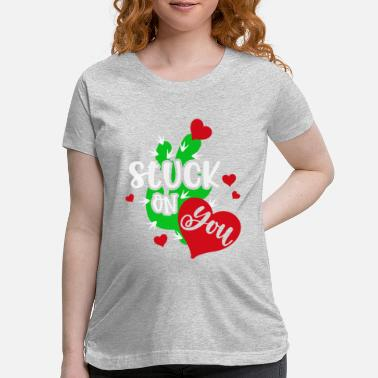 Funny Valetines Day Valetines Day Cactus - Maternity T-Shirt