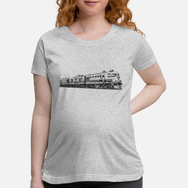 Steam Locomotive Vintage Train Locomotive - Maternity T-Shirt