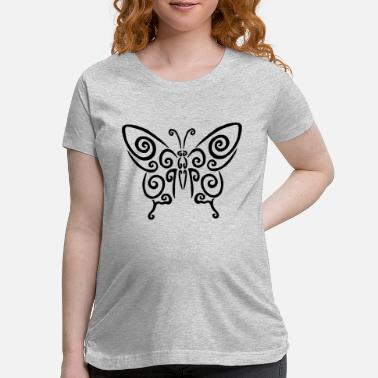 Coat Of Arms Black spiral butterfly - Maternity T-Shirt