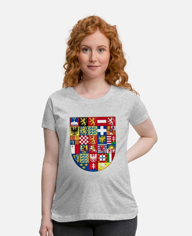 EU T-Shirts - Europe union crest of arms - Maternity T-Shirt heather gray