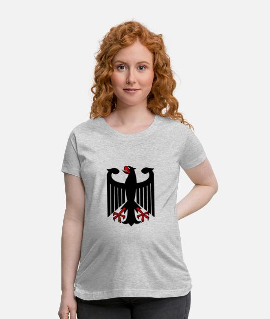 Soccer T-Shirts - (German Eagle) - Maternity T-Shirt heather gray
