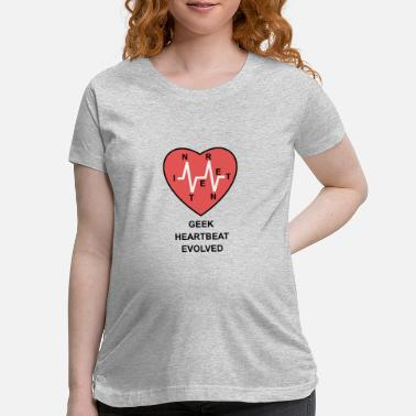 Cardiography geek heartbeat evolved - Maternity T-Shirt