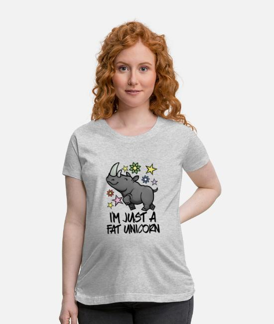 Father And Son T-Shirts - FAT UNICORN - Maternity T-Shirt heather gray