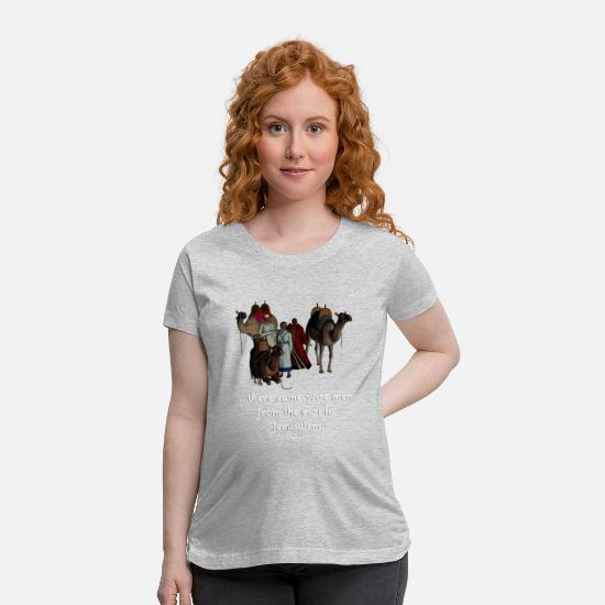 Christmas T-Shirts - 3 Wise Men Design - Maternity T-Shirt heather gray