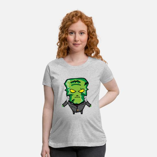 Halloween T-Shirts - Frankenstein Halloween - Maternity T-Shirt heather gray