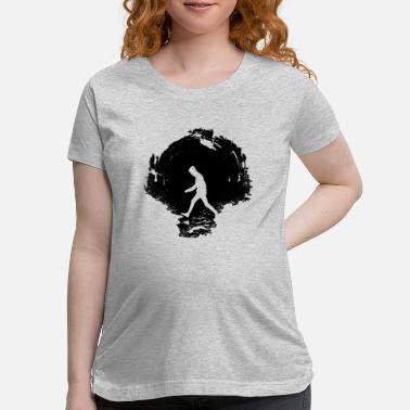 Silhouette in Underground Tube - Maternity T-Shirt