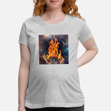 Surreal Fire Keeper - Maternity T-Shirt