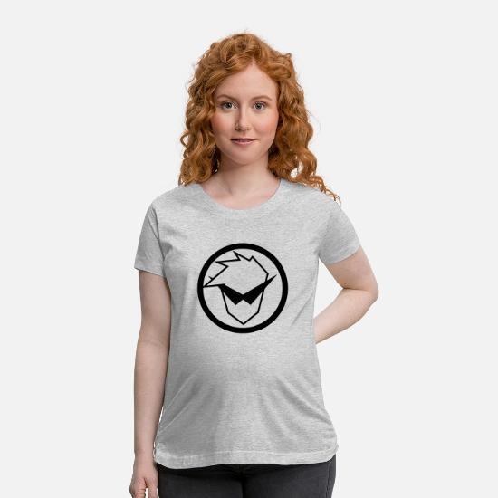 Manga T-Shirts - Kaminaemblem from - Maternity T-Shirt heather gray
