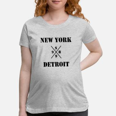 Detroit Vs Everybody shady new york vs detroit - xsr99 - Maternity T-Shirt