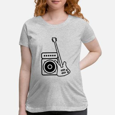 Roadie Bass guitar with amp - Maternity T-Shirt
