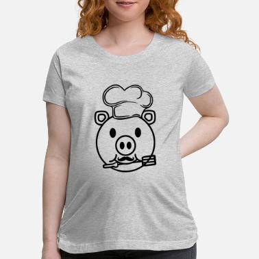 Head Cook face head cook cooking delicious hunger grilling c - Maternity T-Shirt