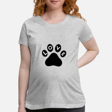 Animal Paw Print Animal Love Paw Print - Maternity T-Shirt