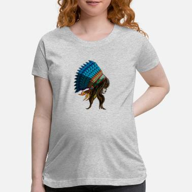 India American Indian Woman Indiana States Native Gift - Maternity T-Shirt