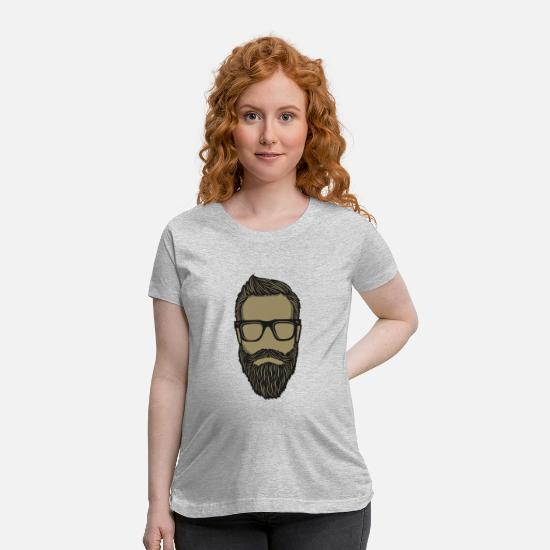 Glasses T-Shirts - Hipster - Maternity T-Shirt heather gray