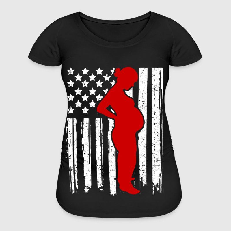 preganand flag 2.png - Women's Maternity T-Shirt