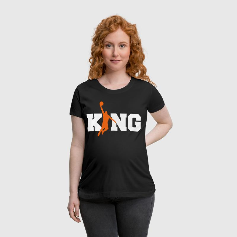 Basketball King-Ball Sports-Slam Dunk-Bball Gift - Women's Maternity T-Shirt