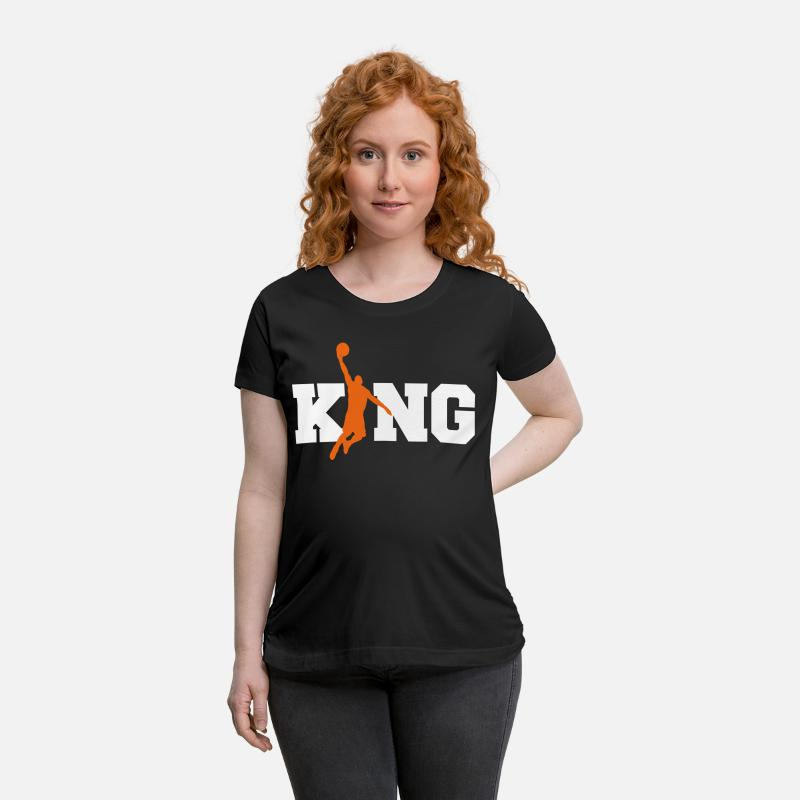 Ball T-Shirts - Basketball King-Ball Sports-Slam Dunk-Bball Gift - Maternity T-Shirt black