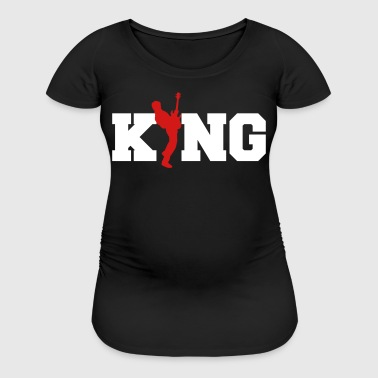 Bass Guitar King-Bassist-Rock Music Band Gift - Women's Maternity T-Shirt
