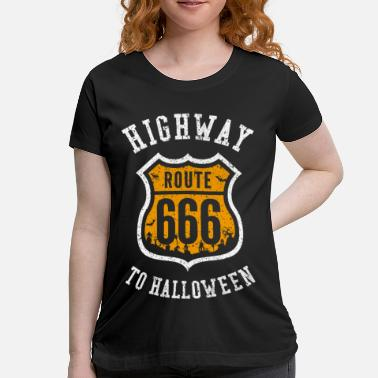 Witch Highway to Halloween - Maternity T-Shirt