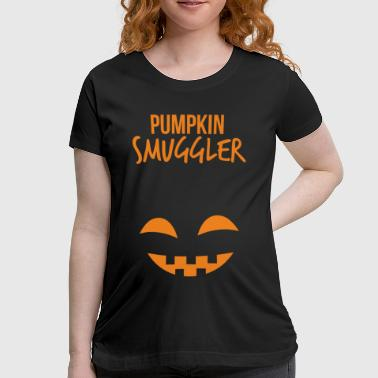 Pumpkin Smuggler Funny Halloween Maternity T-Shirt - Women's Maternity T-Shirt