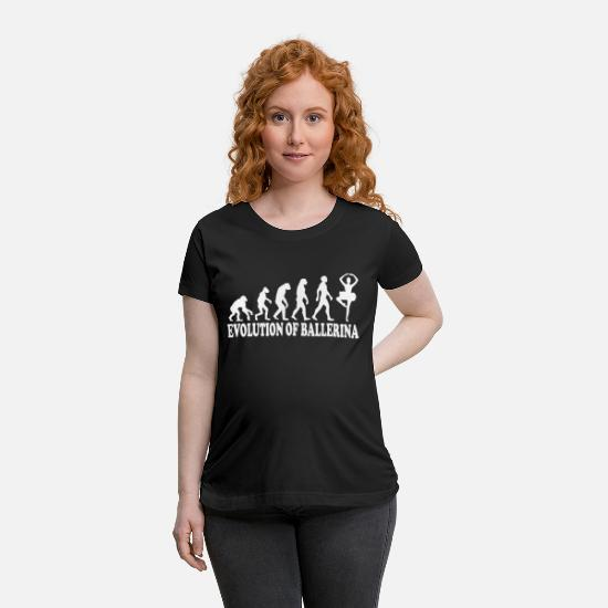Dancing T-Shirts - Evolution of Ballerinas Gift - Maternity T-Shirt black