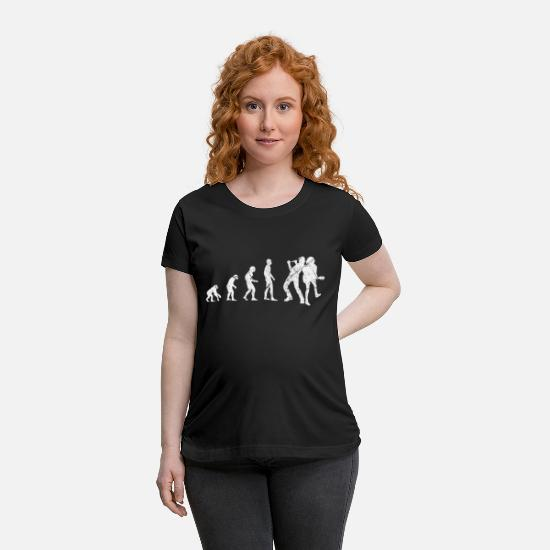 Rock 'n' Roll T-Shirts - Evolution Rock Grunge Music Band Singer - Maternity T-Shirt black