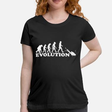 Funnywitty evolution of man diving gift idea - Maternity T-Shirt