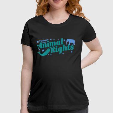AnimalRightsShirtsDesign by Calico Dragon  - Women's Maternity T-Shirt