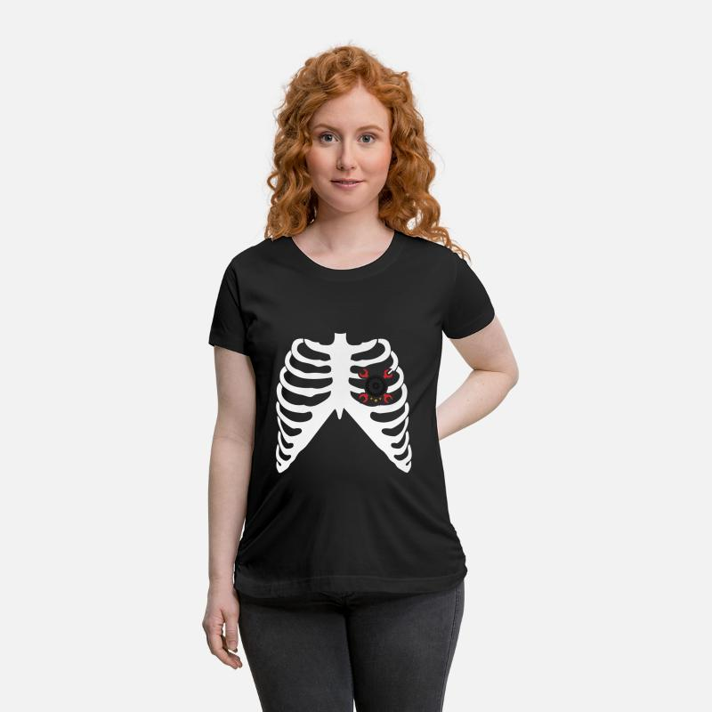 Motor T-Shirts - I LOVE MOTORCYCLES - MY HEART BEATS FOR MOTORCYCLES! - Maternity T-Shirt black