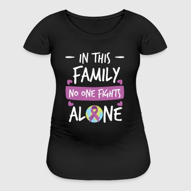 In this Family no one fights alone Pink Ribbon - Women's Maternity T-Shirt