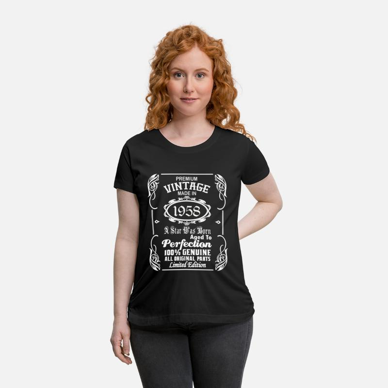 1958 T-Shirts - Vintage made in 1958 - Maternity T-Shirt black