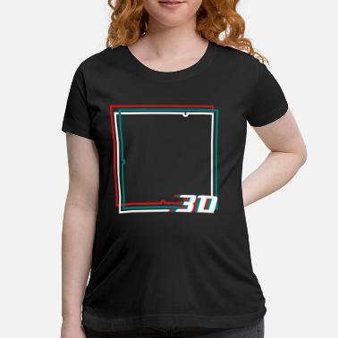 3d Graphics 3D frame  - Women's Maternity T-Shirt